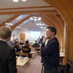 Bild från informationsmöte tätorten Länghem Landsbygd Fiber 140306