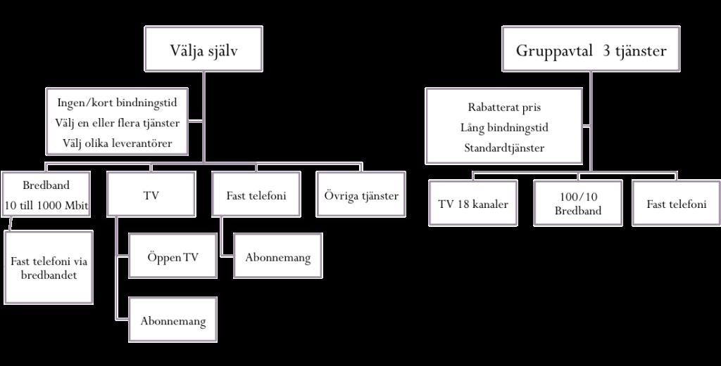 En översiktsbild över de tjänster du som medlem kan välja